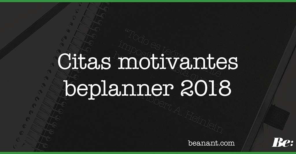 Citas motivantes beplanner 2018
